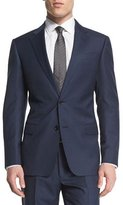 Armani Collezioni G-Line Solid Two-Piece Wool Suit, Navy