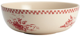 Bonjour Burgundy Red Chanticleer Country Serving Bowl