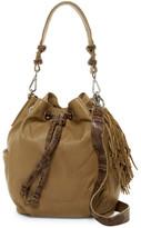 Liebeskind Berlin Loreley Snake Embossed Leather Bucket Bag