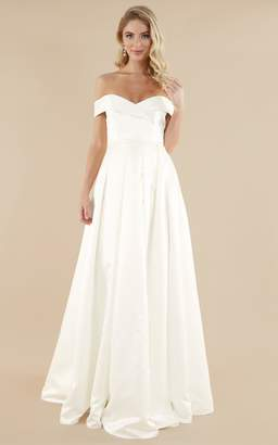 Showpo Sweet Innocence Gown in ivory satin - 6 (XS) Bridal Gowns