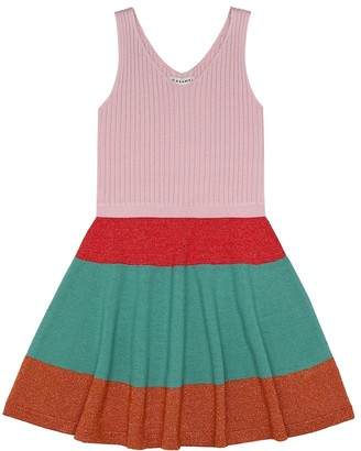 Caramel Redchurch merino wool-blend dress