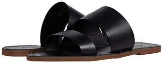Madewell Boardwalk Double Strap Slide (True Black) Women's Shoes