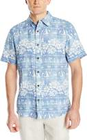 Margaritaville Men's Short Sleeve Bbq Shirt - Tribal Village