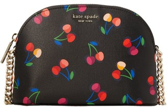 Kate Spade Small Spencer Cherries Dome Leather Crossbody Bag