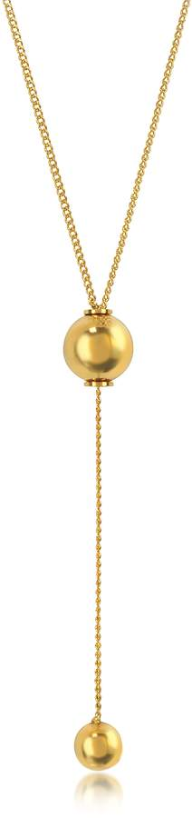 Vita Fede O'hara Gold Tone Drop Lariat Necklace