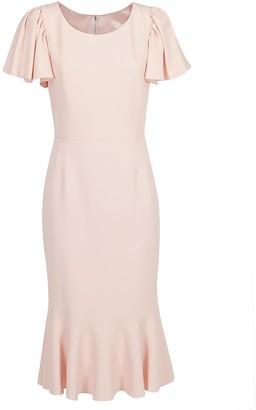 Dolce & Gabbana Ruffled Hem Midi Dress