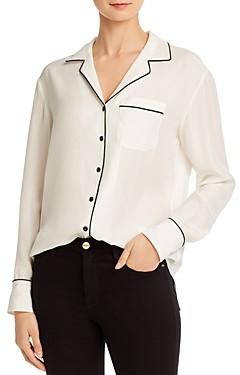Rag & Bone Luca Silk Pajama Top