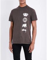 Stussy Motif-print Cotton-jersey T-shirt