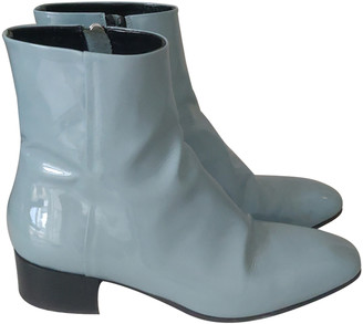 AEYDĒ Turquoise Patent leather Ankle boots