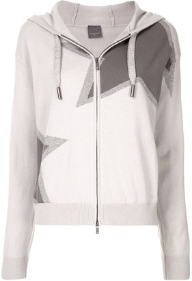 Lorena Antoniazzi Star-Print Hooded Knit Jacket