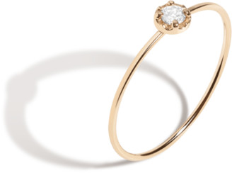 AUrate New York Midi Stackable Diamond Ring