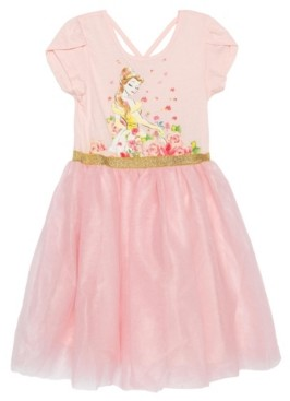 Disney Big Girls Romance Belle Short Sleeve Tutu Dress