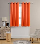 Mysky Home Grommet top Thermal Insulated Window Blackout Curtain for Kids Bedroom, 42 by 63 inch, Orange (1 panel)