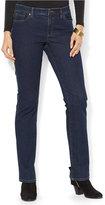 Lauren Ralph Lauren Petite Super-Stretch Rinse Wash Curvy-Fit Straight-Leg Jeans
