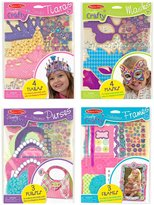 Melissa & Doug Simply Crafty Bundle - Tiaras, Masks, Purses And Petals
