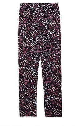 Just Kidding Girl's Floral Stretch Leggings