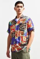 Polo Ralph Lauren Tiger Patchwork Rayon Short Sleeve Button-Down Shirt