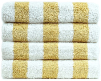 Bare Cotton Cabana Striped Luxury Hotel and Spa Pool Beach Towel, Set of 2, Salmon