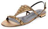 Burberry Studded Metallic Leather Sandal