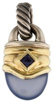 David Yurman Two-Tone Chalcedony & Iolite Pendant