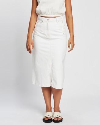 Mng Women's White Denim skirts - Bayb-h Skirt - Size XS at The Iconic