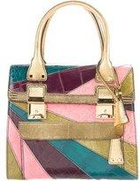 Valentino Lizard-Trimmed Dome Bag