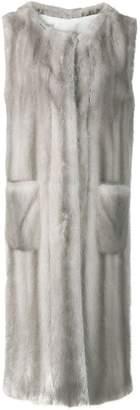 Liska Sagittario fur trimmed waistcoat