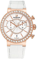 Swarovski Citra Sphere Crystal Chronograph Leather-Strap Watch