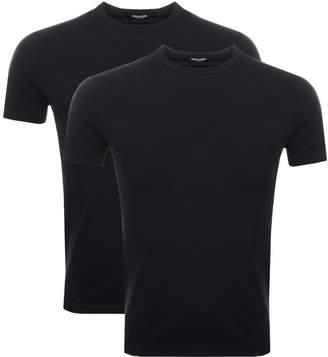 DSQUARED2 2 Pack T Shirts Black