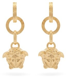 Versace Medusa Drop Earrings - Gold