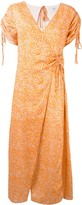 SUBOO Sienna printed wrap dress