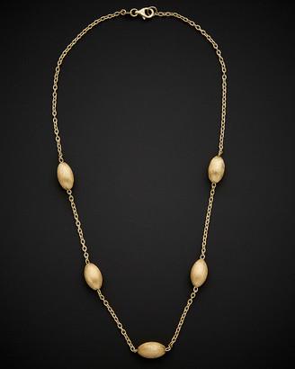 Italian Gold 14K Satin Finish Coffee Bean Necklace