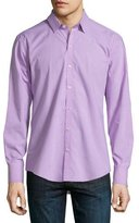 Zachary Prell Gingham-Check Long-Sleeve Sport Shirt, Turquoise