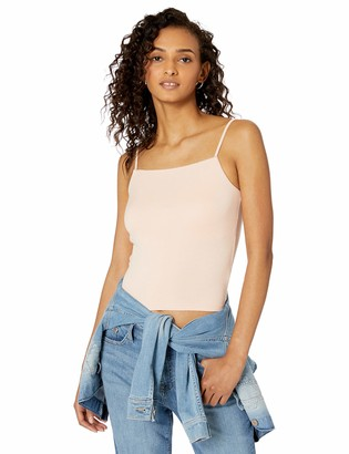 The Drop Cara Square Neck Fitted Strappy Tank Top