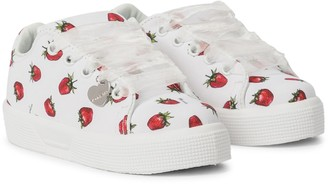 MonnaLisa Strawberry canvas sneakers