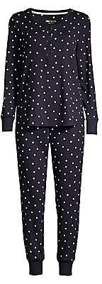 Kate Spade Women's Polka Dot Two-Piece Pajama Set