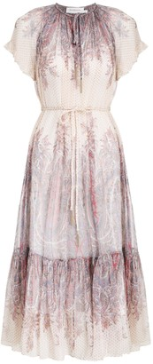 Zimmermann Lucky Flutter Braid Midi Dress