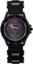 DC COMICS DC Comics Batman Vs. Superman Lcd Dial Black Case Black Silcone Strap Watch With Plastic Bullets