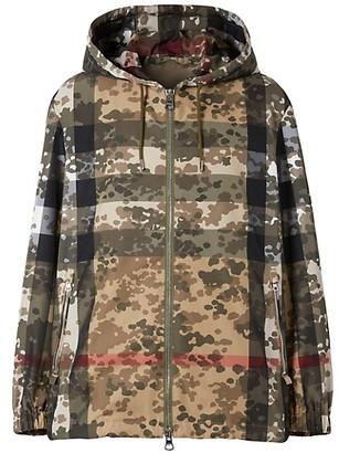 Burberry Stretton Mixed Print Jacket