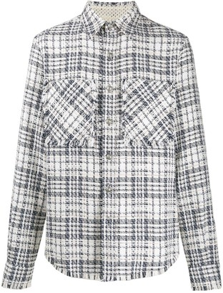 Faith Connexion Tweed Relaxed-Fit Shirt