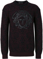Versace Medusa intarsia knit - men - Wool - 48