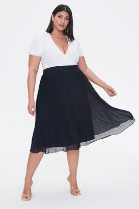 Forever 21 Plus Size Flowy Midi Skirt