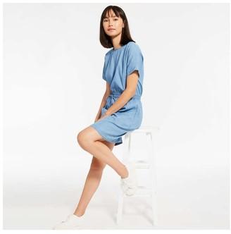 Joe Fresh Women's Denim Dress, Medium Wash (Size M)