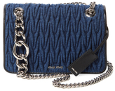 Miu Miu Club Matelassé Denim Shoulder Bag