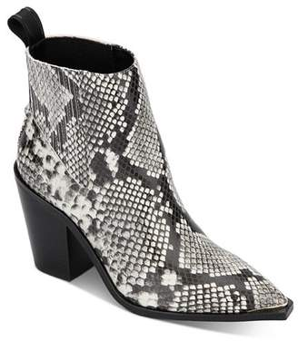 Kenneth Cole Women's West Side Snake-Print Booties - 100% Exclusive