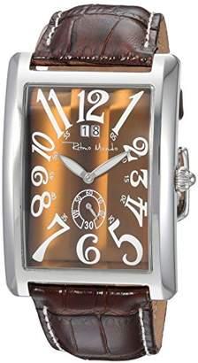 Ritmo Mundo Stainless Steel Swiss-Quartz Watch with Leather Calfskin Strap