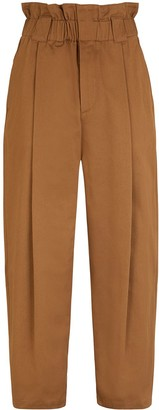 Fendi Paperbag-Waist Tapered Trousers