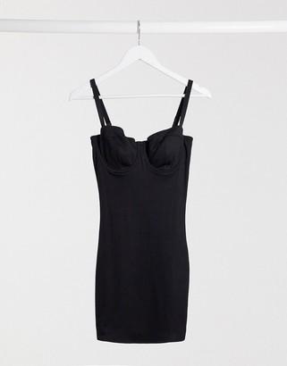 ASOS DESIGN Fuller Bust Sidika underwire shaping dress