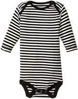 Kickee Pants Print One Piece (Baby) - Midnight/Natural Stripe - 3-6 Months