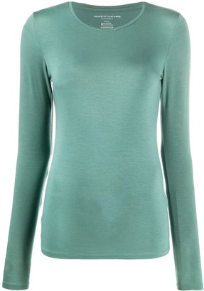 Majestic Filatures Round-Neck Long Sleeved Top